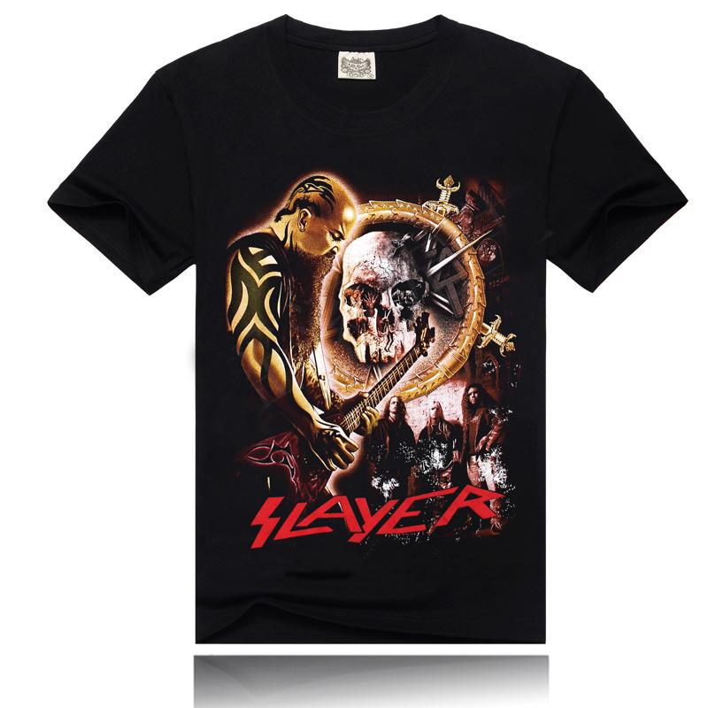 3d T Shirt Printing T Shirt Black Cotton O Neck Short