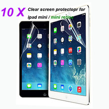 retail pack 10PCS/LOT For ipad mini Clear Screen Protector,Front LCD Screen Guard,Protective Film For iPad mini retina(China (Mainland))