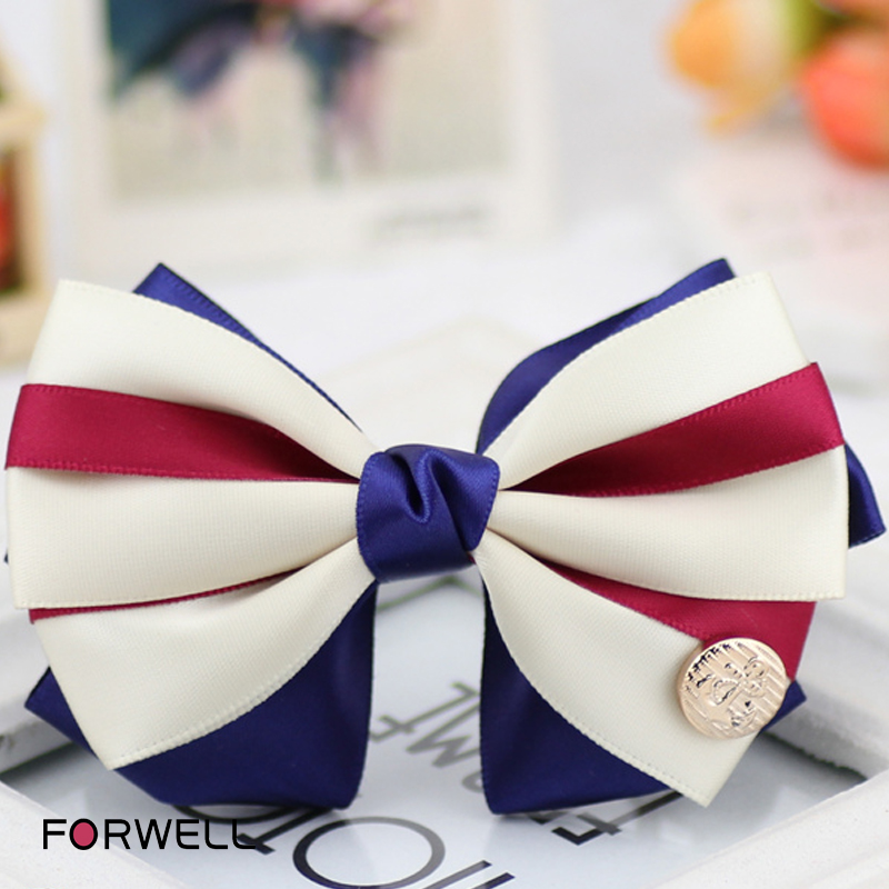 Original handmade bow barrettes hair accessories for women navy style DIY hairpins headdress flower jewelry wholesale(China (Mainland))