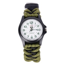 Silver cell Multi functional Umbrella Watch Survival Bracelet Rope Watch 6-in-1(China (Mainland))