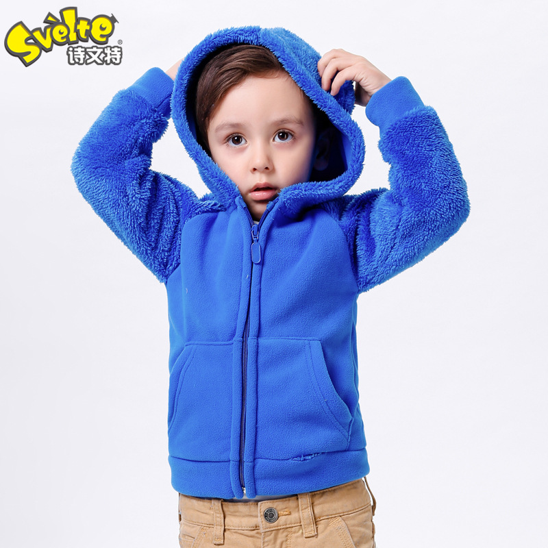 Children's Jackets & Coats Autumn Winter Warm Animal Style Overcoat Kids Cute Coral Fleece Hoody Outerwear Free Shipping(China (Mainland))