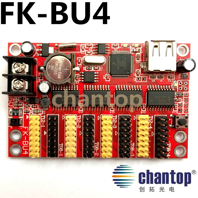 FK-BU4 USB Port Gif animation support single&Two color LED Display Screen controller card 1024*64pixels max 128pcs p10 control(China (Mainland))