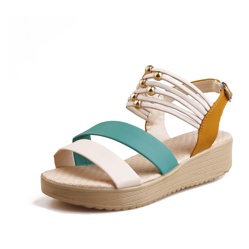 Free Shipping 2016 wedges sandals flat platform casual sandals women's shoes(China (Mainland))