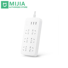 Buy 100% Original Xiaomi Mijia Mi Power Strip 2A Fast Charging 3 USB Extension Socket Plug 6 Standard Sockets EU Adapter for $23.55 in AliExpress store