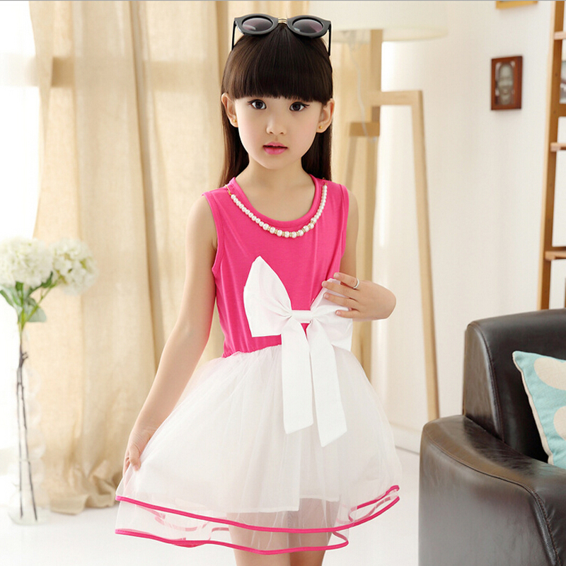 Brand children's summer girls dress princess dress baby girls party dresses kids girls big bowknot ball gown fashion style(China (Mainland))