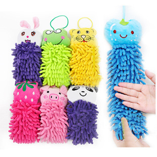 T manufacturer microfiber chenille cartoon towel hanging Household Cleaning Tools practical towel Cleaning Cloths(China (Mainland))