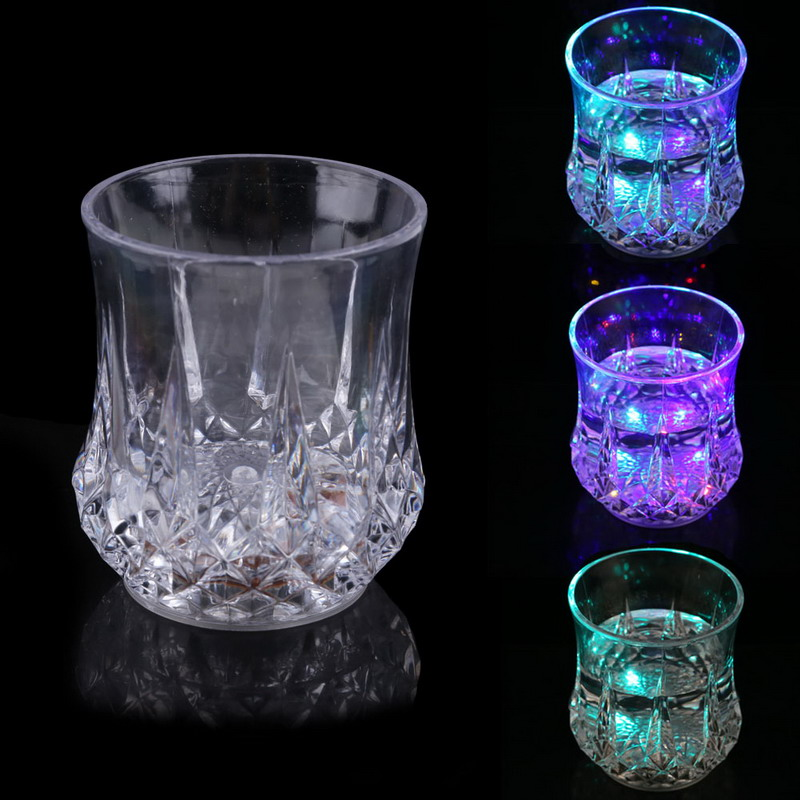 ASLT New LED Glowing Mug Water liquid Inductive Light-up Drink Wine Glass Cup Free Shipping NVIE(China (Mainland))