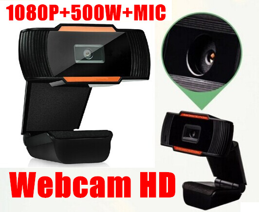 Hot Sale 1080P 500w USB 2.0 HD Webcam Camera Web Cam Digital Video Web camera with MIC for Computer PC Laptop Free Shipping(China (Mainland))