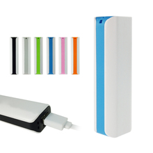 Convenient Useful 6 colors phone 2600mAh power bank external battery pack for iphone 6 5s 4s for Samsung S6 S5 S4 etc