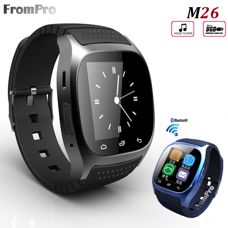 HOT M26 Bluetooth Smart Watch luxury wristwatch Rwatch smartwatch with Dial SMS Remind Pedometer for Android