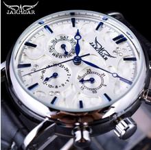 JARAGAR 青空 Jaraz デザインシリーズ本革ブレスレットトップブランドの高級メンズ腕時計自動(China)