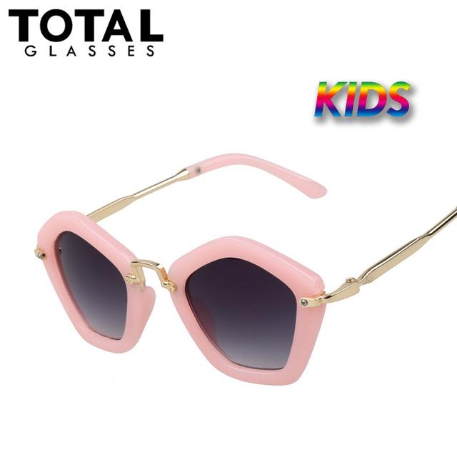 Totalglasses Vintage Детские Солнцезащитные Очки Девушки Hipster Детей Солнцезащитные очки Металла Высокого Качества Очки Марка Дизайнер Óculos