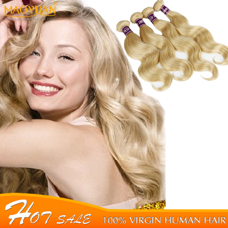 Brazilian Body Wave 1pcs lot,#613 Platinum Blonde Virgin Hair,Grade 6A,Shedding Free,100 Unprocessed Hair,Fast Delivery by DHL