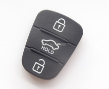 HOLD 3 button key Pad for Hyundai Kia Remote flip Key Shell Blank Fob Cover Rubber Pad(China (Mainland))