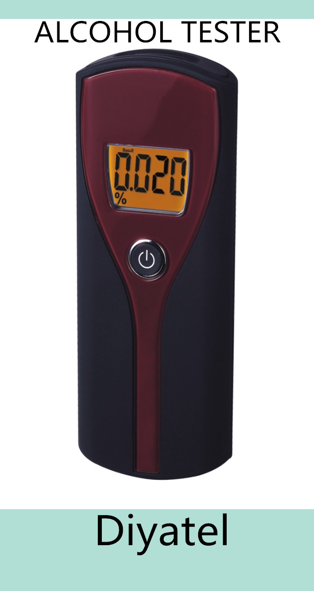 personal use Free Shipping/Personal Digital Display Breathalyzer/HotItem 6880S LCD Display Breathalyzer Blood AlcoholTester(Red)(China (Mainland))