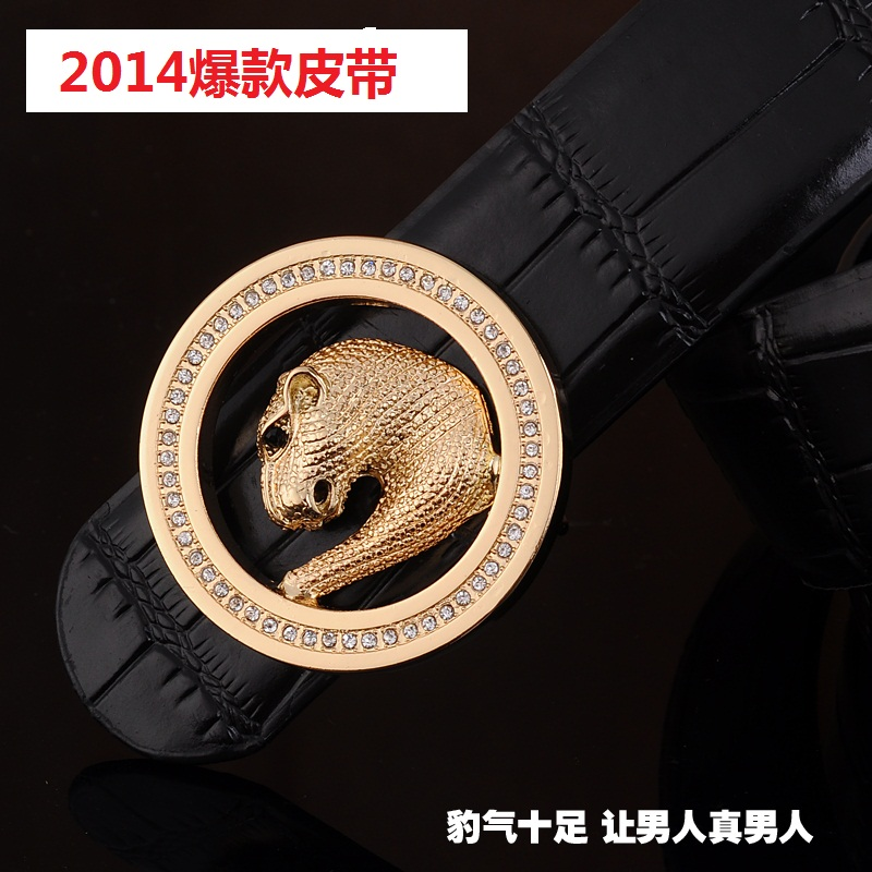Male strap bamboo male cowhide belt women's diamond buckle lovers design Genuine Leather - fashion ladies' bags store