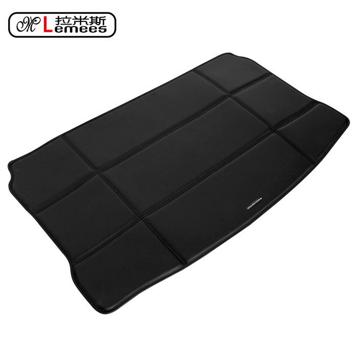 wateproof non slip car trunk mats for MINI Cooper special rear carpets in high class PU leather(China (Mainland))