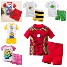 Buy New 2T-7T kids pajamas Spiderman Ironman boy pyjama set boys pajamas pijama menina children's pyjamas boys short Sleeve for $5.80 in AliExpress store