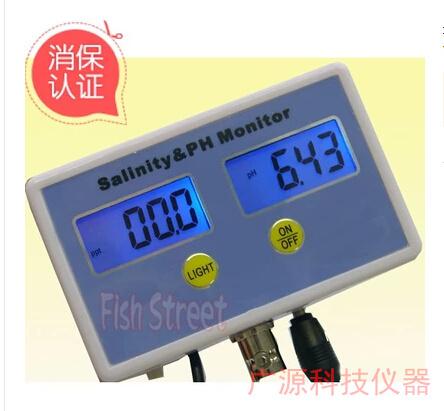 Salinity tester Seawater meter / salinity meter /pH meter pH tester food salinity hydrometer free shipping PH salinity  2 IN 1