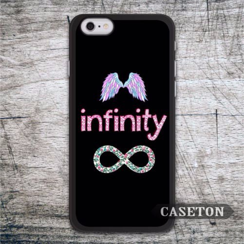 Infinity With Angel Wings Case For iPhone 7 6 6s Plus 5 5s SE 5c 4 4s and For iPod 5 High Quality Cover Retail Wholesale