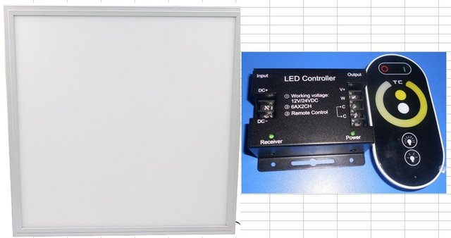 43W 600mm*600mm Color temperature adjustable led panel light+ 2channel touch dimmer+power supply
