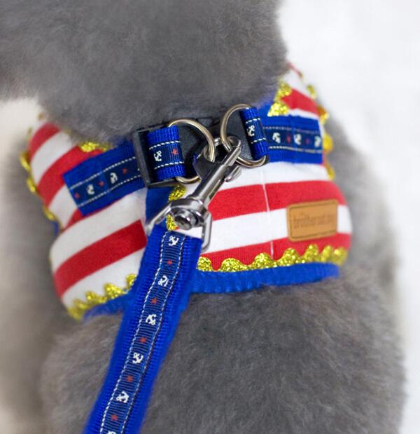 Marinheiro gato cão coleira de cachorro arreios leads definir cães gatos vestido de quatro suprimentos colete S-XL