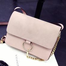 2016 женщины сумка почтальона сумочки высокое качество плеча crossbody сумки для женщин площадь матовое кольцо сумка женщина(China (Mainland))