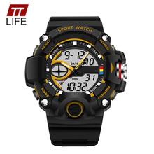 Buy TTLIFE Brand Men Sports Digital Watch 30M Waterproof Dual Display Analog Electronic Wristwatch Casual Fashion Quartz Clock 715 for $9.18 in AliExpress store