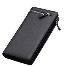 High Quality Mimco Men's Long Zipper Wallet Carteira Masculina Leather Men Wallets Business Brand Card Holder Coin Purse Wallet