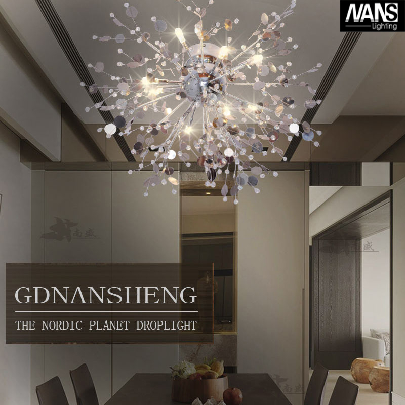 Modern Crystal Chandelier Living Room lustres de cristal Decoration Tiffany Pendants and Chandeliers Home Lighting Indoor Lamp(China (Mainland))
