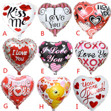 High Quality 9pcs/lot 18'' I LOVE YOU Balloon Valentine day Wedding Decorations party supplies Heart shape love foil balloons(China (Mainland))