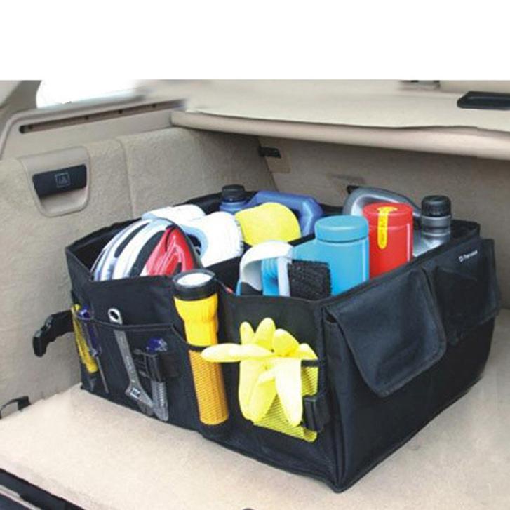 New 2015 Car Accessories Car Trunk Organizer Car Storage Receive Bag Portable Folding Car Boot Tidy Bag(China (Mainland))