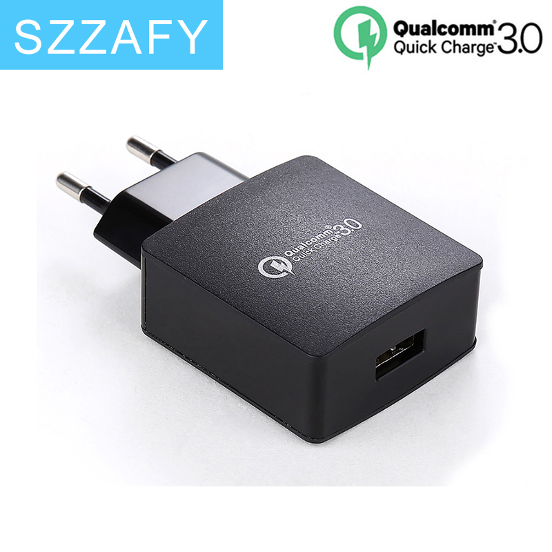 Quick Charge 3.0 USB FAST Wall Charger EU Plug Qualcomm QC3.0 Mini Auto Travel Charging For Apple iPhone 6s HTC & Smartphone(China (Mainland))