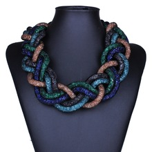 European and American fashion exaggerated multi-layer winding twist necklace pendant chain of clavicle(China (Mainland))