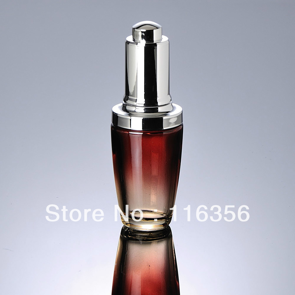 30ML red glass bottle with silver press dropper  for Cosmetic Packaging<br><br>Aliexpress