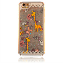 Dynamic Liquid Glitter Sand Quicksand Star Case For iphone 6/6S 4.7″ Crystal Clear Cellphone Back Cover For Apple iphone 6s 6g