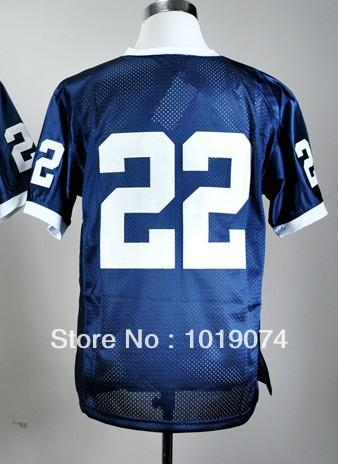 NCAA college football jersey Penn State Nittany Lions 22 blue football shirt Cheap(China (Mainland))