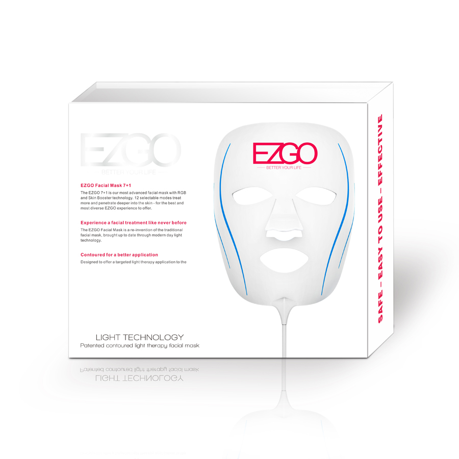 LED Facial Mask Whitening LED Face Mask 7+1 Colors Therapy Mask Beauty Insturnment(China (Mainland))