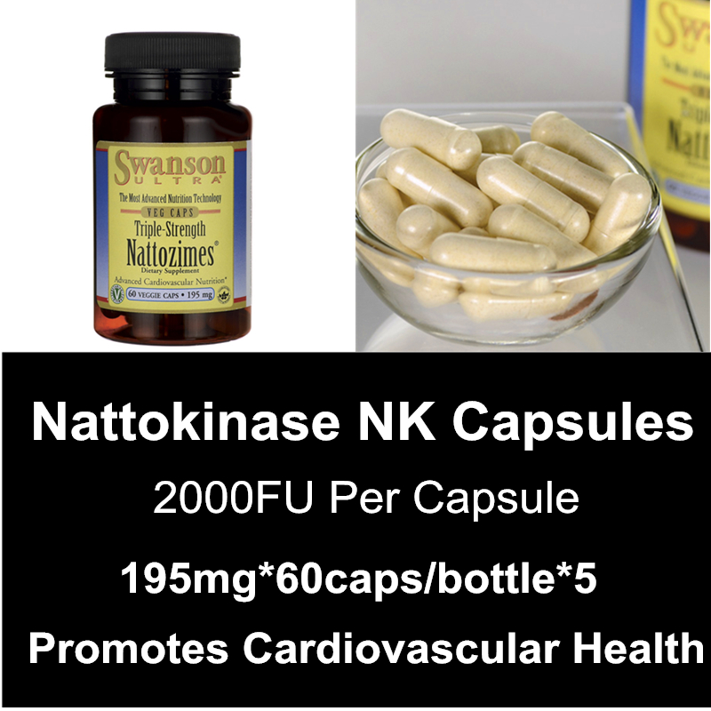 Triple Strength Nattokinase Capsuels 2000FU Per NK Capsule Promotes Older Cardiovascular System Health Supplements<br><br>Aliexpress