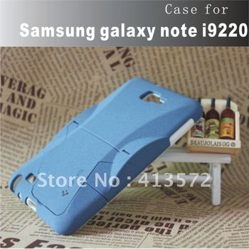 Free shipping!!~~Samsung GALAXY Note i9220 case with trestle, Froste shell + silica gel double protection,unique car modelling!!