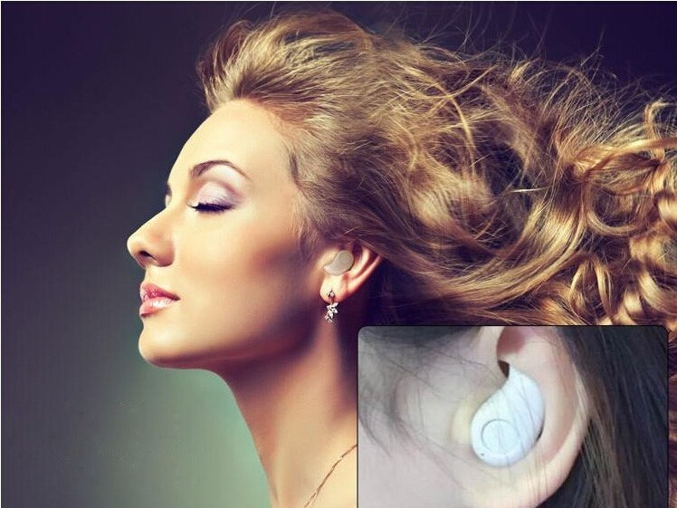 In-Ear Wireless Spy Micro Earpiece For Mobile Phone Super Mini Bluetooth Headset With Mic Skin Earphones Free Shipping S530