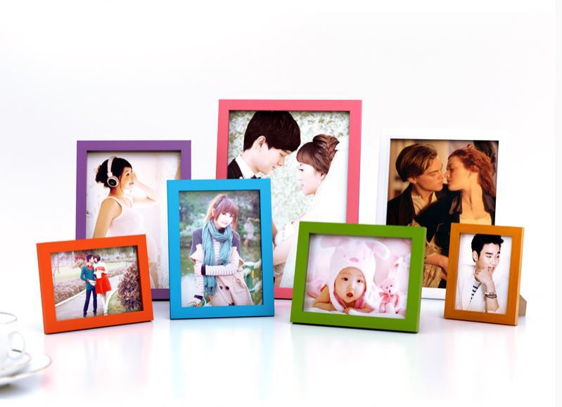 Tianzhiyihao 122P size 5/6/7/8/10/ A4 solid wood frame creative photo frame children photo frame(with Transparent PVC)1 pcs(China (Mainland))