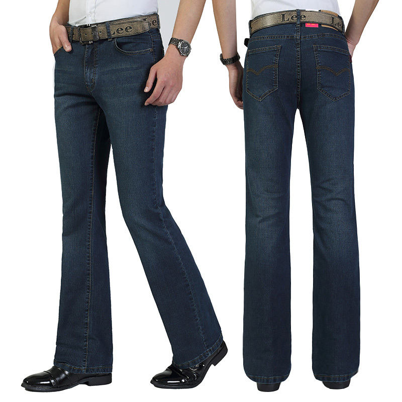 Free Shipping Package mail Menu0026#39;s jeans trousers bootcut jeans Setengah flared bell bottom jins ...