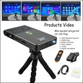 Mini Projector Portable Pocket DLP Wifi Bluetooth Projector DLNA Android OS 1G 16G ROM Built in