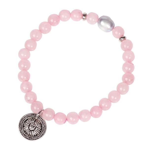 Hot New 2014 Fashion Bracelet for Women High Quality Natural Stone Bracelet Pink Rose Quartz Bracelet Jewelry Women's Bracelet(China (Mainland))
