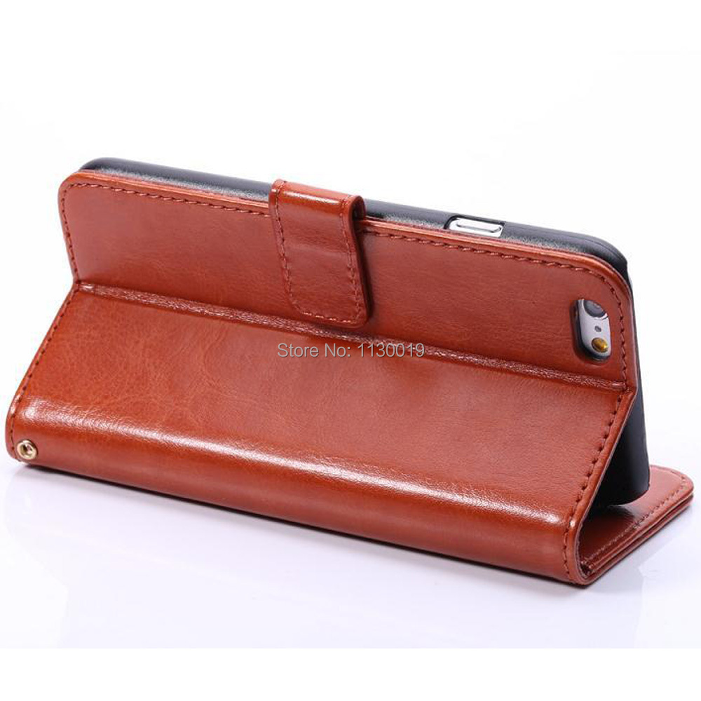 Fine Sheep Lines Pattern Leather Case for iPhone6/iPhone6s, with Credit Card Slots and Stand, Free shipping, Free Screen Film(China (Mainland))