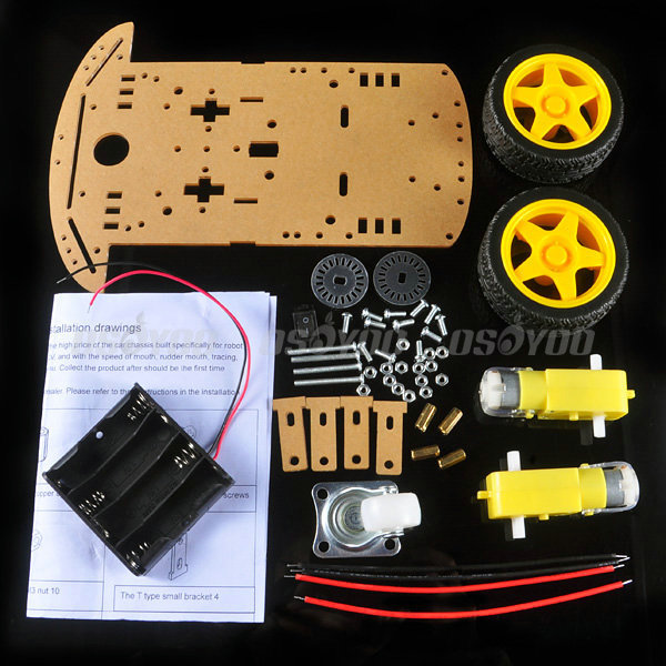 Hot Sale Smart Robot Car Chassis Kit Speed Encoder Battery Box For Arduino,best quality