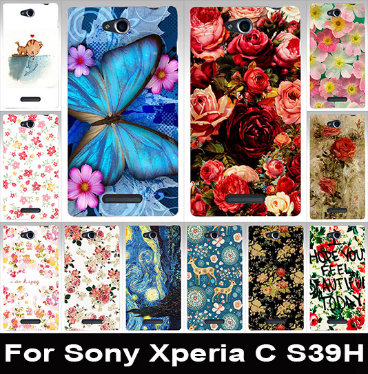Beautiful painted mobile phone case transparent side PC case hard Back cover hood Skin Shell For