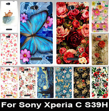 Beautiful painted mobile phone case transparent side PC case hard Back cover hood Skin Shell For Sony Xperia C CN3 S39h C2305