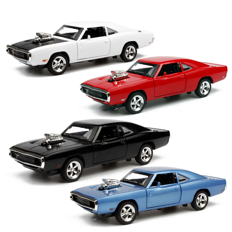 1:32 Scale Alloy Diecast Car Model Kids Toys 1/32 Fast & Furious 7 Dodge Charger Pull Back Toy Cars Collection Gift For New Year(China (Mainland))